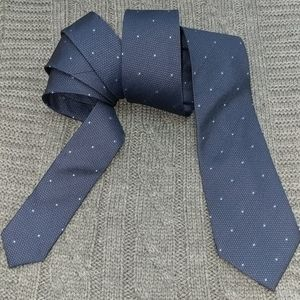 MARC ANTHONY 💯 Silk Navy Blue Tie